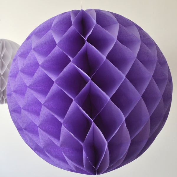 Jumbo Lavender Honeycomb Tissue Ball