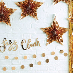 Gold Star Shaped Hanging Fan Decorations