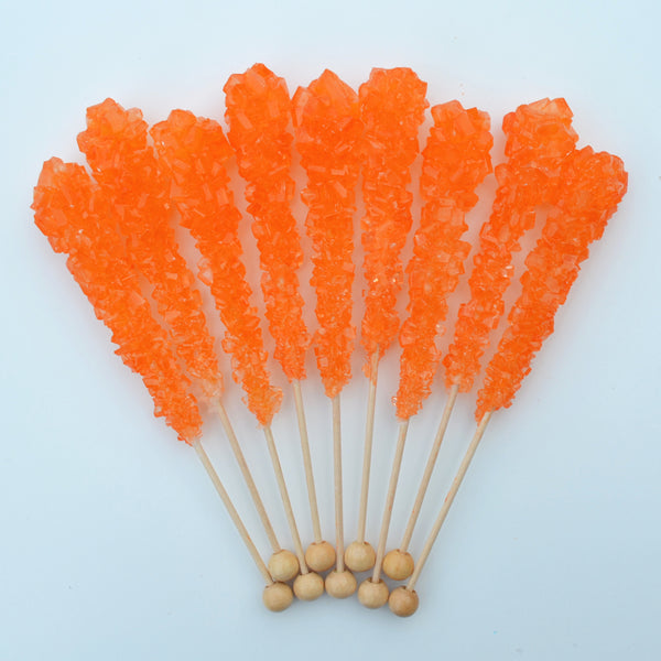 Orange Sugar Swizzle Sticks 10 Pack