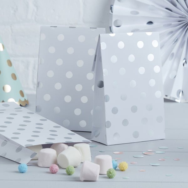 Silver Foiled Polka Dot Party Bags