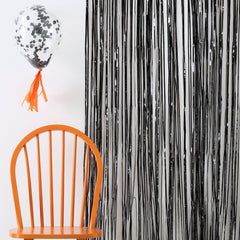 Black Fringe Curtain Decorations