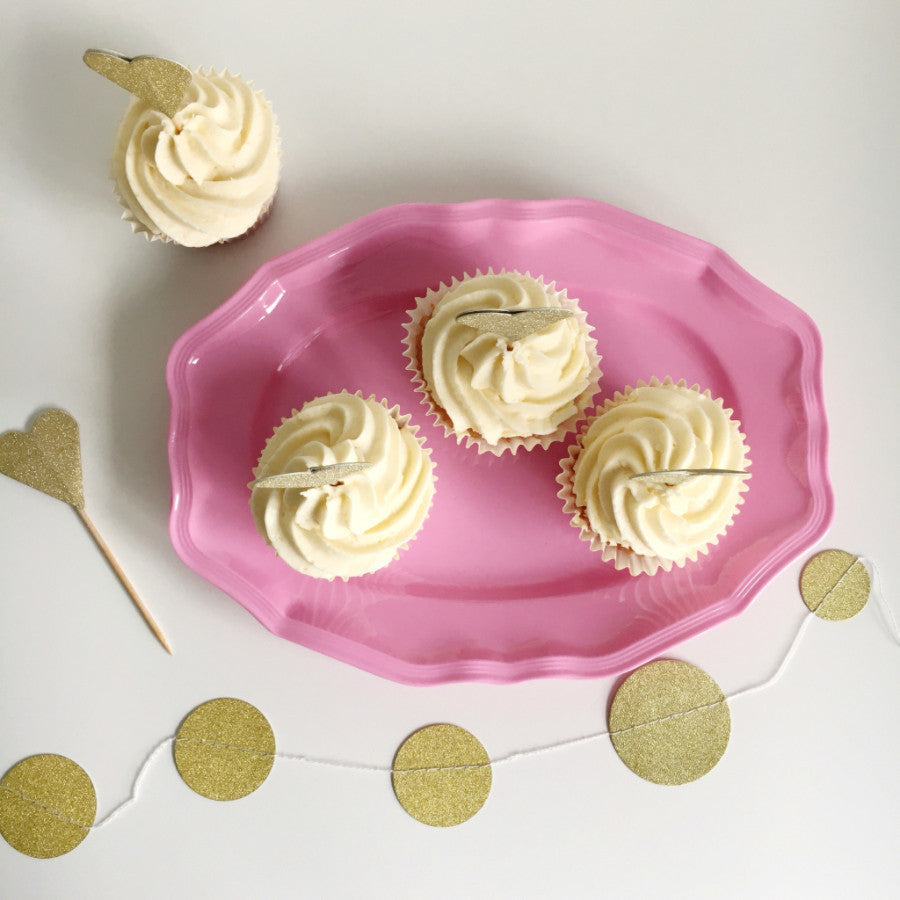 Small Pink Melamine Serving Dish - The Sweet Hostess  - 1
