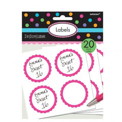 Fuchsia Sweet Labels - The Sweet Hostess