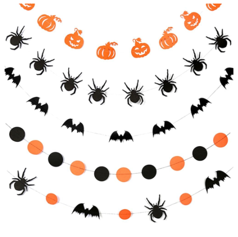 Spooky Halloween Bunting / Garland - bats and spiders