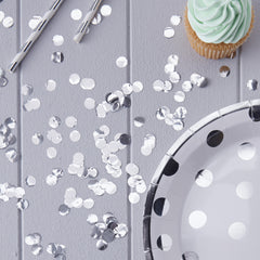 Metallic Silver Table Confetti - The Sweet Hostess