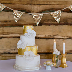 Antique Gold Sequin Bunting - The Sweet Hostess  - 4