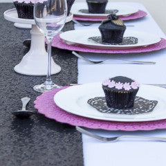 Black Sequin Table Runner - The Sweet Hostess  - 4