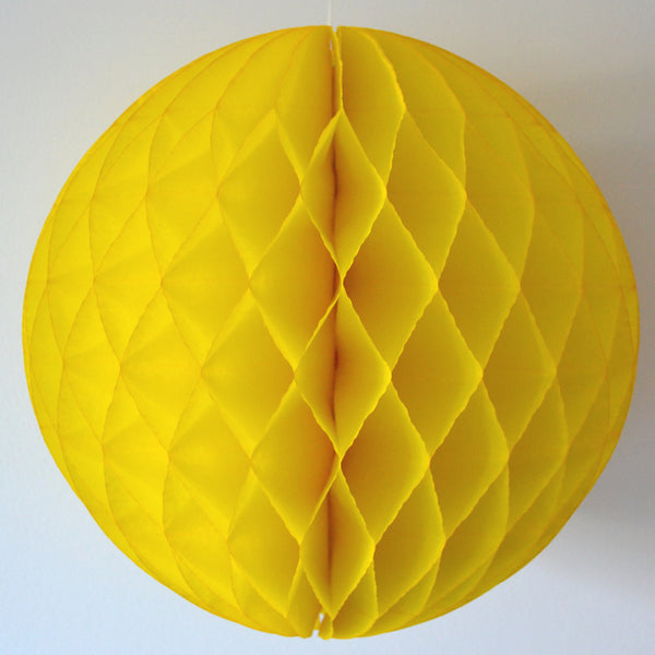 Yellow Honeycomb Tissue Ball
