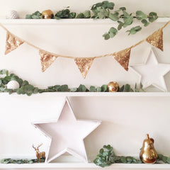 Antique Gold Sequin Bunting - The Sweet Hostess  - 2
