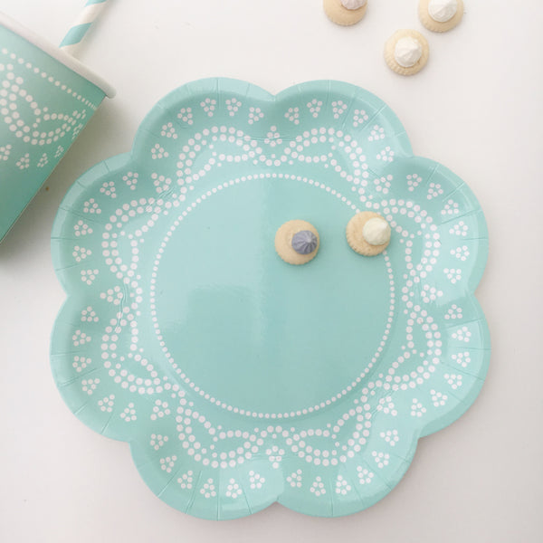 Pastel Tiffany Lace Party Plates