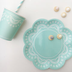 Tiffany Blue Lace Party Cups - The Sweet Hostess  - 2
