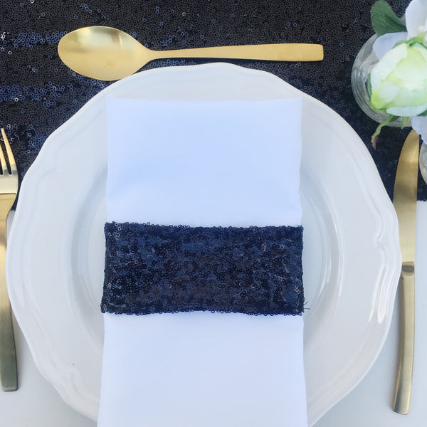 Black Sequin Napkin Holder