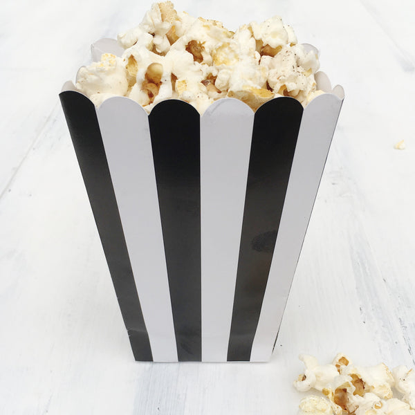 Black Stripe Popcorn Boxes