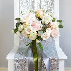 Silver Sequin Table Runner - The Sweet Hostess  - 3