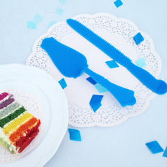 Blue Cake Server & Knife Set - The Sweet Hostess