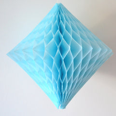 Light Blue Diamond Honeycomb Decoration - The Sweet Hostess