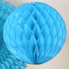 Turquoise Honeycomb Tissue Ball - The Sweet Hostess
