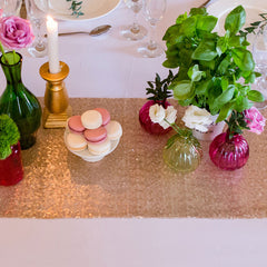 Champagne Blush Sequin Table Runner - The Sweet Hostess  - 2