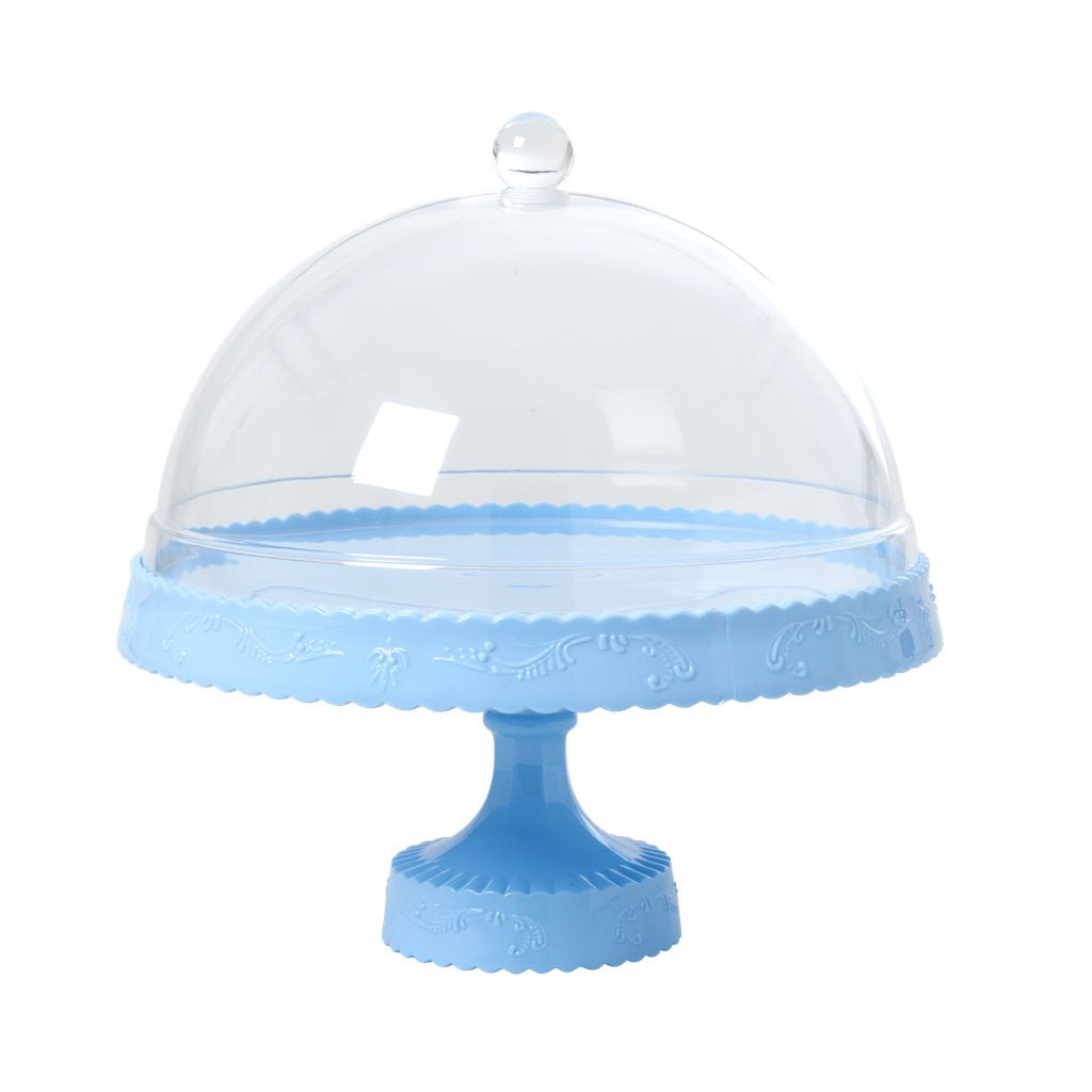 Light Blue Cake Stand & Dome - The Sweet Hostess