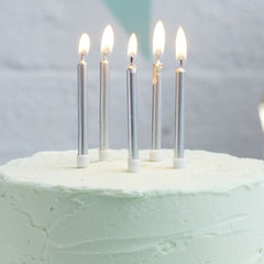 Silver Birthday Candles 24 Pack - The Sweet Hostess  - 1