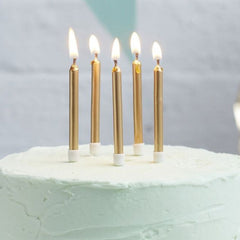 Gold Birthday Candles 24 Pack - The Sweet Hostess  - 1