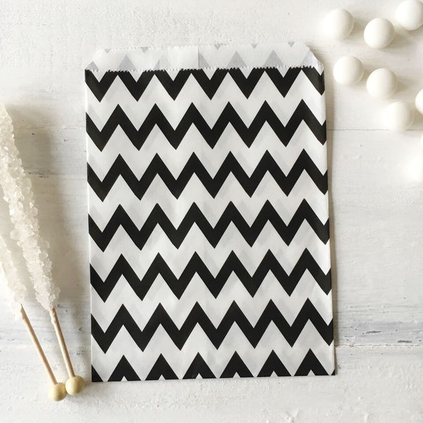 Black Chevron Paper Bags