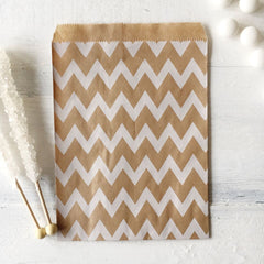Kraft Chevron Paper Bags - The Sweet Hostess