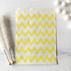 Yellow Chevron Paper Bags - The Sweet Hostess