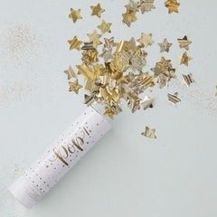 Gold Confetti Cannon Shooter - The Sweet Hostess