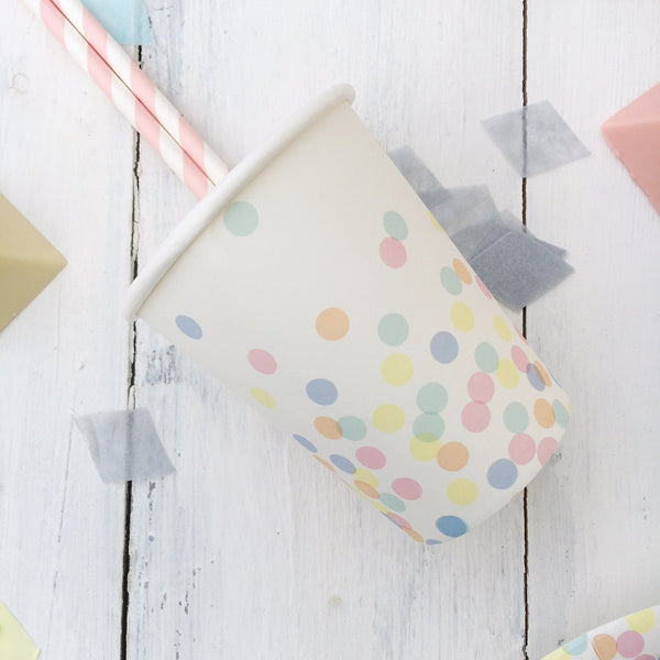 Pastel Confetti Party Cups