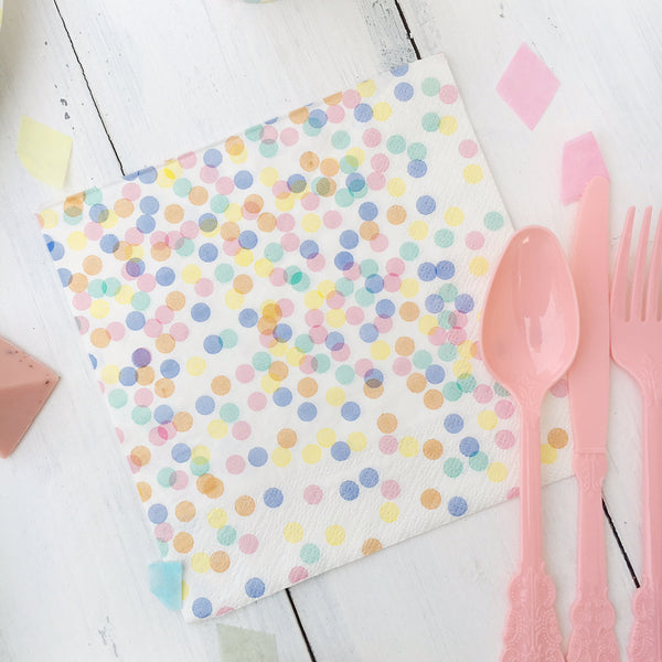 Pastel Confetti Party Napkins