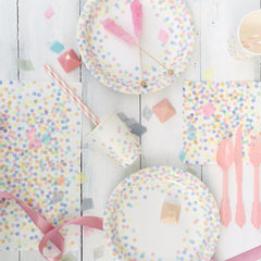 Pastel Confetti Party Cups - The Sweet Hostess  - 2