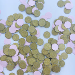 Pink and Gold Glitter Confetti - The Sweet Hostess  - 2