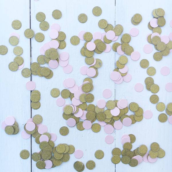 Pink and Gold Glitter Confetti