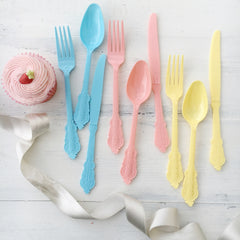 Pink Vintage Style Cutlery - The Sweet Hostess  - 2