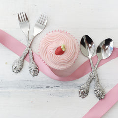 Small Rose Tea Spoons - The Sweet Hostess  - 2