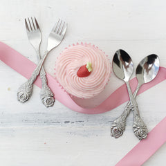 Small Rose Cake Forks - The Sweet Hostess  - 2