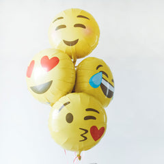 Emoji Heart Eyes Foil Balloon - The Sweet Hostess  - 3