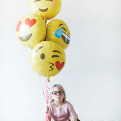 Emoji Heart Eyes Foil Balloon - The Sweet Hostess  - 2