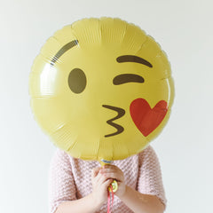 Emoji Kissing Heart Foil Balloon - The Sweet Hostess  - 1
