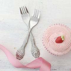 Small Rose Cake Forks - The Sweet Hostess  - 1