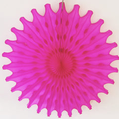 Fuchsia Paper Fan 18 inch - The Sweet Hostess