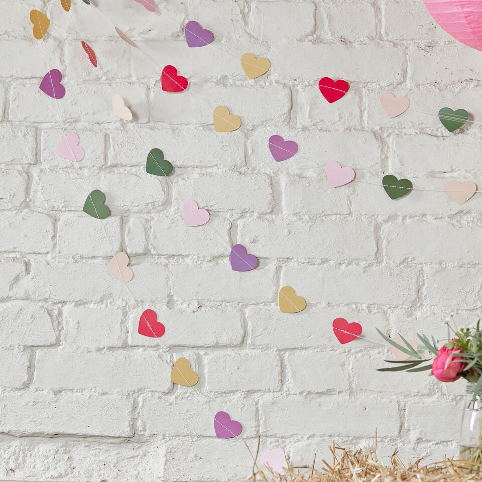 Colourful Heart Garland - The Sweet Hostess  - 1