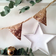 Antique Gold Sequin Bunting - The Sweet Hostess  - 3