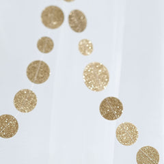 Gold Glitter Confetti Garland - The Sweet Hostess  - 2