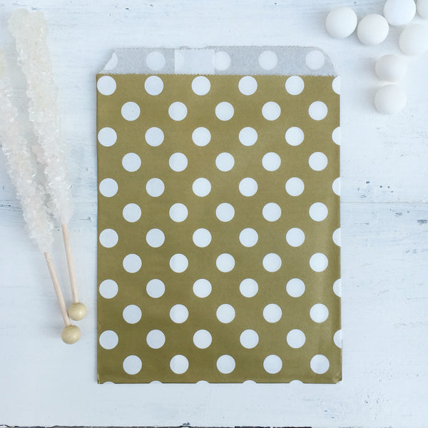 Gold Polka Dot Paper Bags