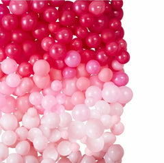 DIY Ombré Balloon Wall - Pink
