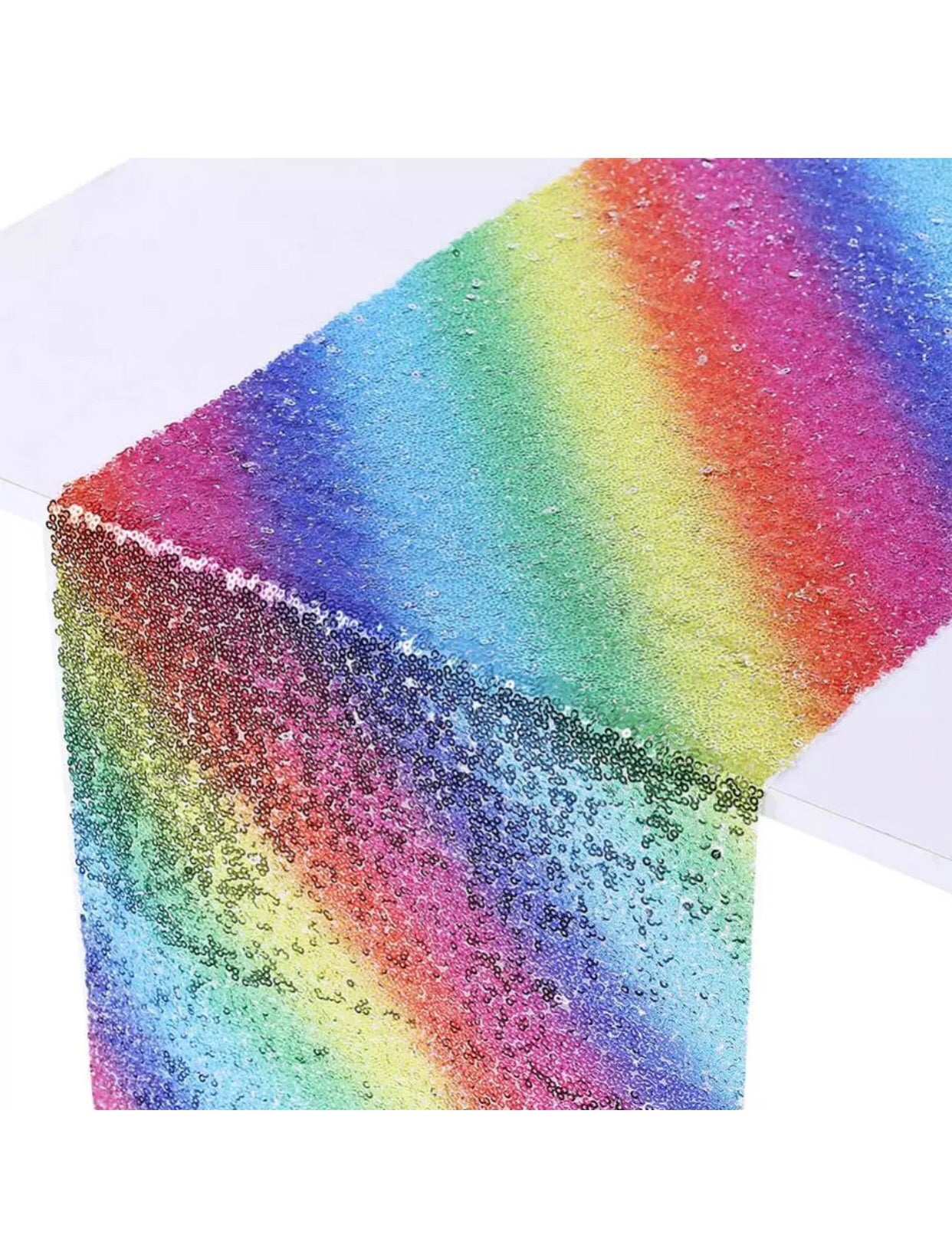 Rainbow Sequin Table Runner 30x180 cm