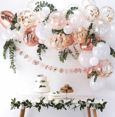 DIY Balloon Arch - Rose Gold