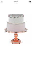 Rose Gold Cake Stand 30 cm